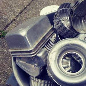 Vintage Jell-O molds and loaf pans